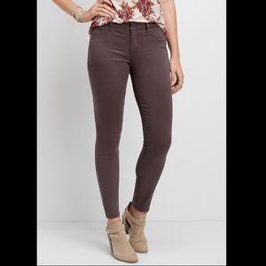 Maurices dark grey skinny jeans/jeggings